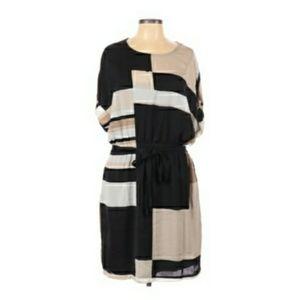 DKNYC Block Print Dress